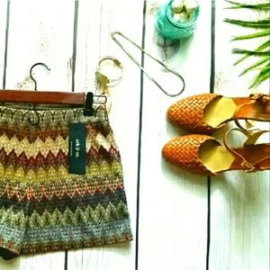 Ark & Co. Zig Zag Chevron Missoni-esque Shorts